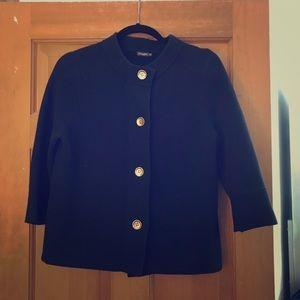 Medium black button down sweater